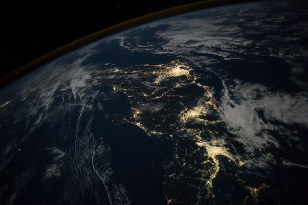 Today's Image of the Day from NASA Earth Observatory features a satellite view of Japan at night.