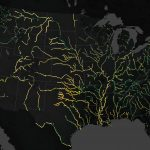 Today's Image of the Day from NASA Earth Observatory maps the colors of large rivers across the United States
