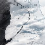 Today's Image of the Day from NASA Earth Observatory features a large iceberg that has broken away from Antarctica's Brunt Ice Shelf
