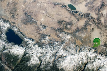 Today's Image of the Day from NASA Earth Observatory features a view of California's Central Valley, including Lake Tahoe, Walker Lake, and Mono Lake.