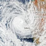 Today's Image of the Day from NASA Earth Observatory features Tropical Cyclone Seroja hours before it made landfall in Western Australia on April 11, 2021.