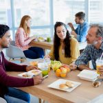 The experts discovered when co-workers are eating together, their food choices are comparably healthy or unhealthy.