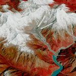 Today's Image of the Day from the European Space Agency features the Sedongpu region of China, where traces of a glacier avalanche - made up of fluid ice and rock - are visible.