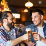 The researchers found that while strangers may initially keep their distance from each other while drinking together, they draw closer as they become intoxicated.