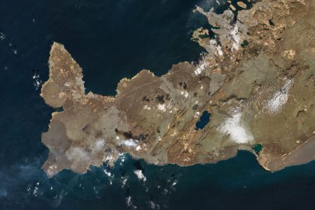 Today's Image of the Day from NASA Earth Observatory features a rare view of an eruption at Fagradalsfjall volcano in southwestern Iceland.