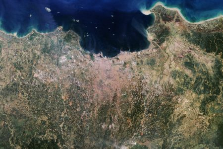 Today's Image of the Day from NASA Earth Observatory features Jakarta on the Indonesian island of Java - a city that is increasingly threatened by sea level rise.