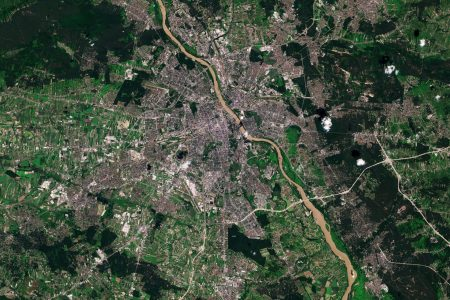 Today's Video of the Day from the European Space Agency features Warsaw, the capital and largest city of Poland.