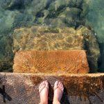 feet and the ocean