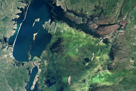 Today's Image of the Day from NASA Earth Observatory features the Bangweulu wetlands in northern Zambia.