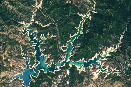 Today's Image of the Day from NASA Earth Observatory features Shasta Lake and Lake Oroville in northern California, where drought conditions are the worst they have been in decades.
