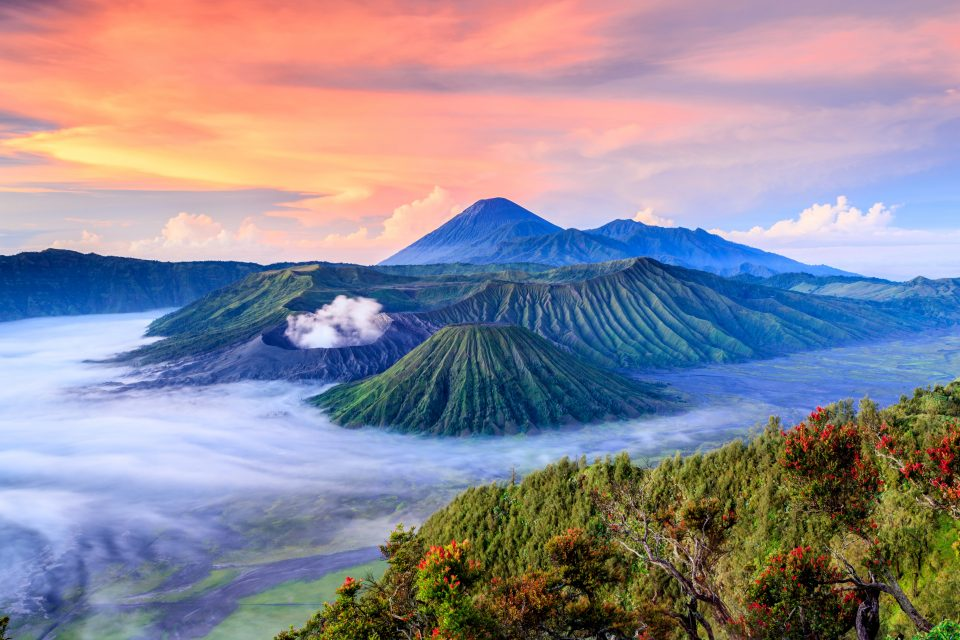 The Indonesianislands themselves are the tops of volcanoes rising from the ocean.