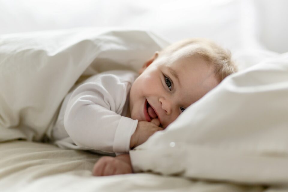The researchers found that baby boys with a gut bacterial composition high in Bacteroidetes had more advanced cognition and language skills after one year.