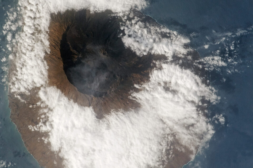 Today's Image of the Day from NASA Earth Observatory features Fogo, an active volcanic island located 400 miles off the coast of West Africa.