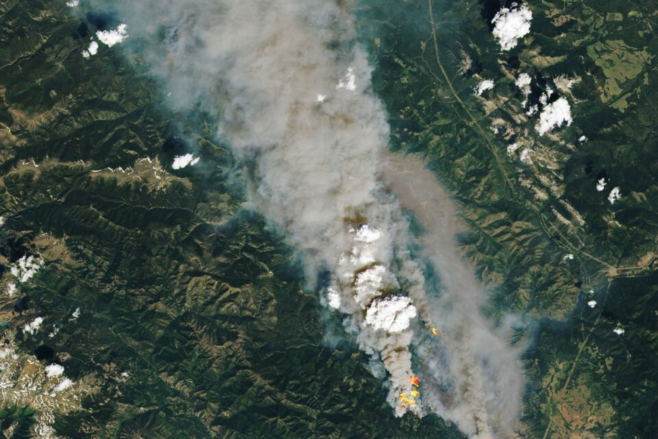 Today's Image of the Day from NASA Earth Observatory shows a pyrocumulus (pyroCu) cloud rising above the McKay Creek fire on June 30, 2021.