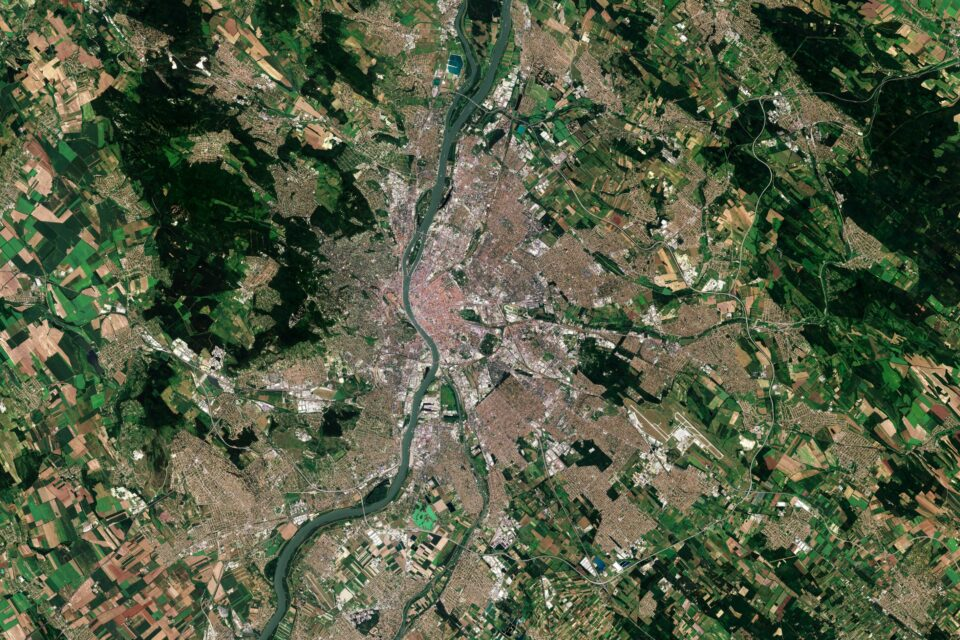 Today's Image of the Day from the European Space Agency features Budapest, the capital city of Hungary